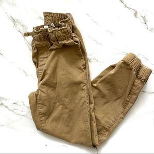 Gap Boys khaki drawstring jogger pants medium